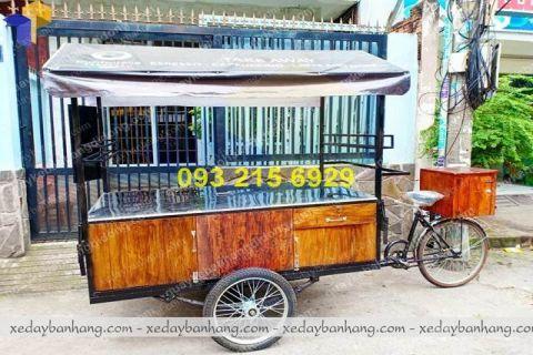 Xe đạp bán cafe đẹp với thiết kế hiện đại tại xưởng Thiên Phúc