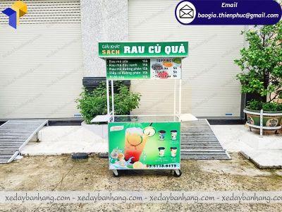 Thiết kế tủ bán nước giải khát RAU CỦ QUẢ tone thanh tao