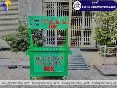 Đặt làm xe bán trà bí đao hạt chia vỉa hè giá rẻ tại Sài Gòn