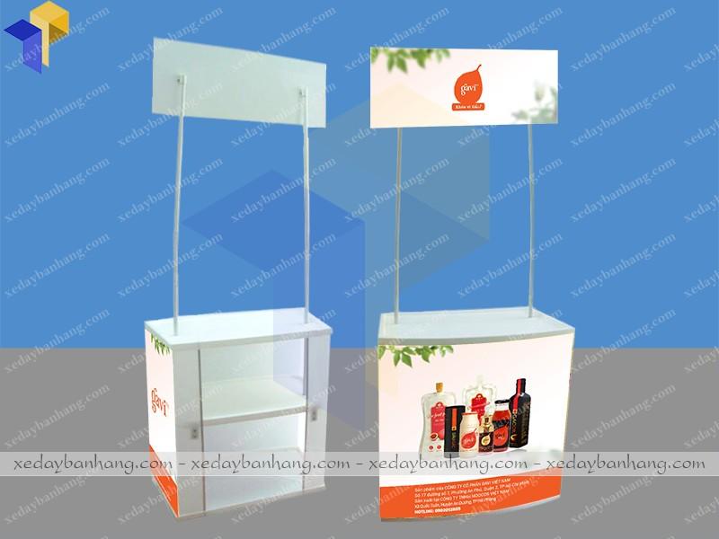 Booth nhựa sampling