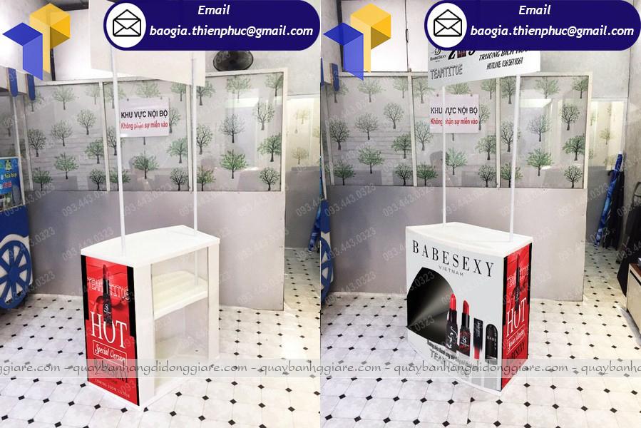 thiết kế booth sampling bán hàng