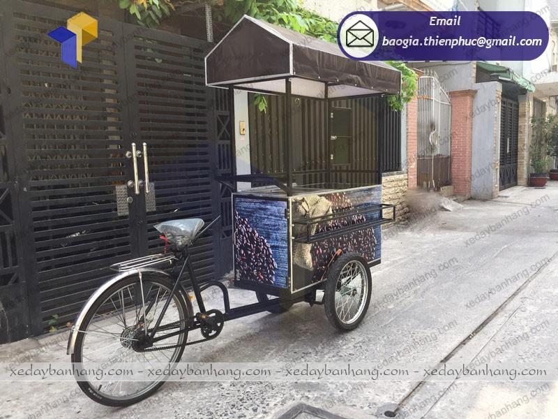 xe đạp bán cà phê