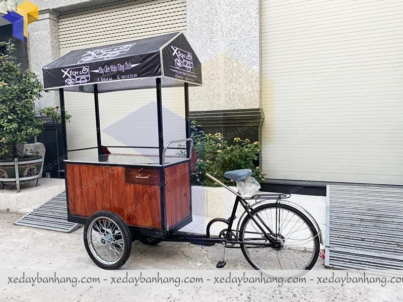 xe đạp bán hàng gỗ