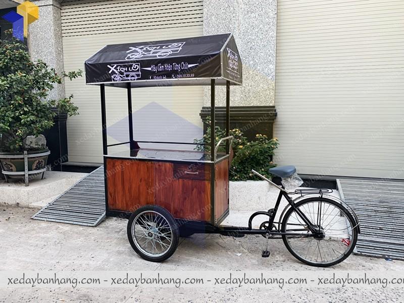 xe đạp bán hàng gỗ palet hcm