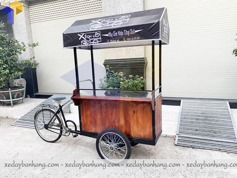 đóng xe đạp bán hàng gỗ palet
