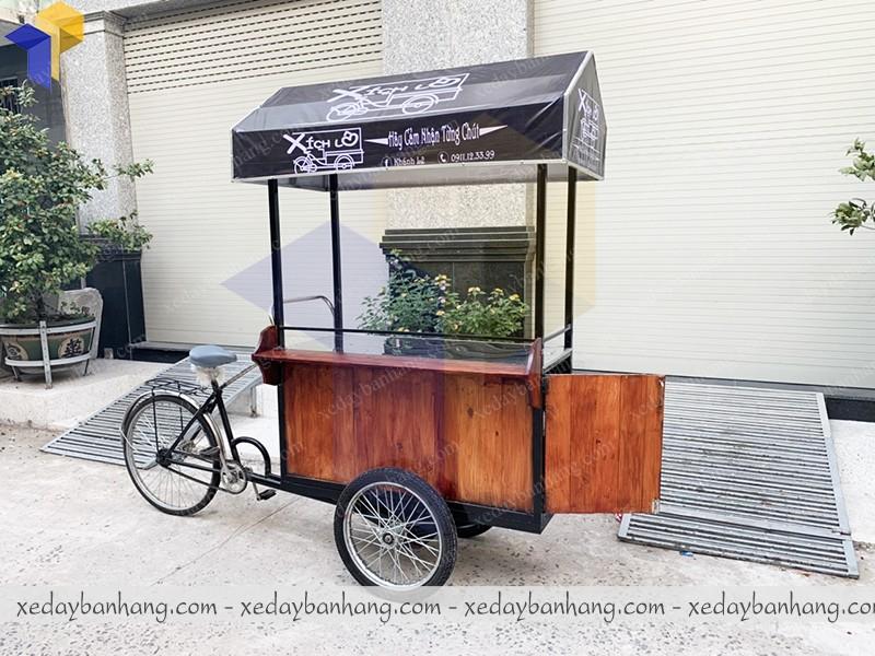 xe đạp bán hàng gỗ bình dương