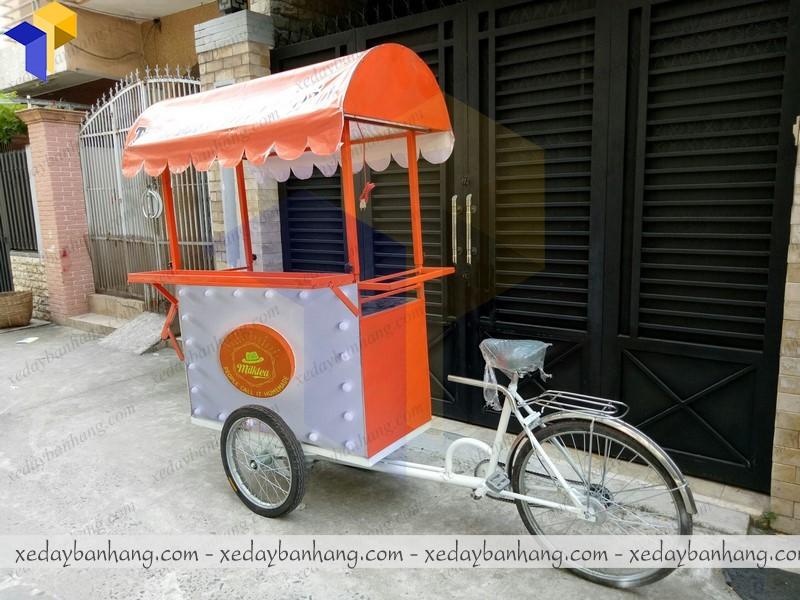 xe đạp bán trà sữa