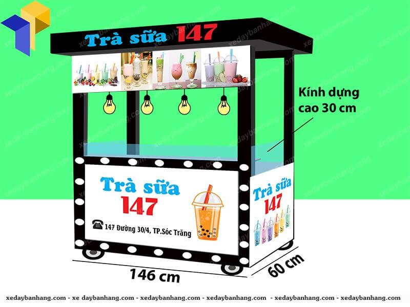 xe đẩy bán trà sữa 147