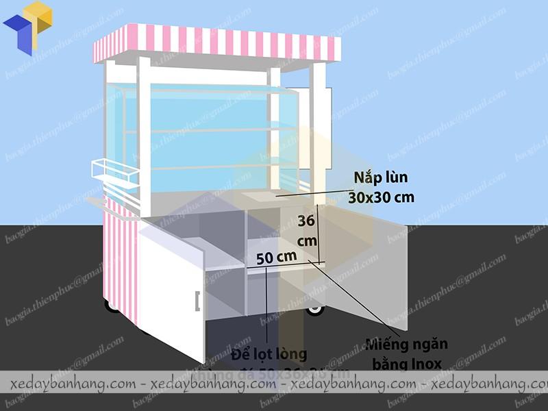 thiết kế xe trà sữa