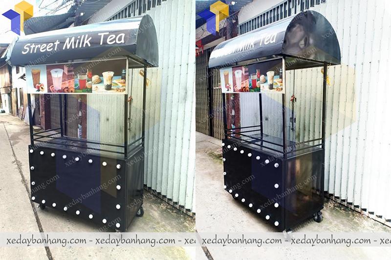 làm xe bán trà sữa street milk đẹp